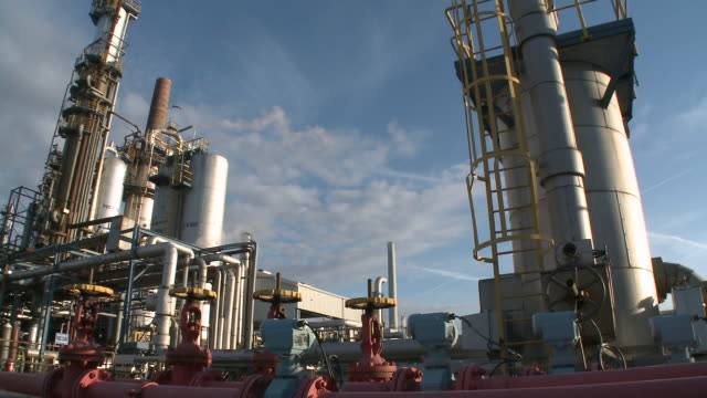 WS PAN View of Holborn Refinery / Hamburg, Germany