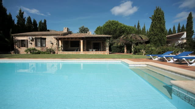 WS View of holiday home with pool near Pollensa / Mallorca, Balearic Islands, Spain