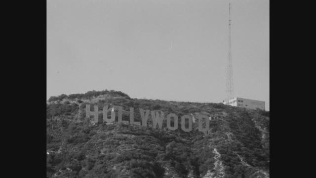 view of hollywood sign, los angeles, california, usa - capital letter stock videos & royalty-free footage