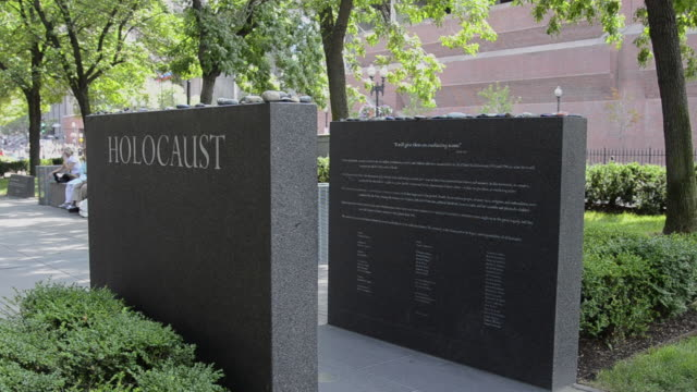 ms view of holocaust memorial in park / boston, massachusetts, united states - holocaust stock videos & royalty-free footage