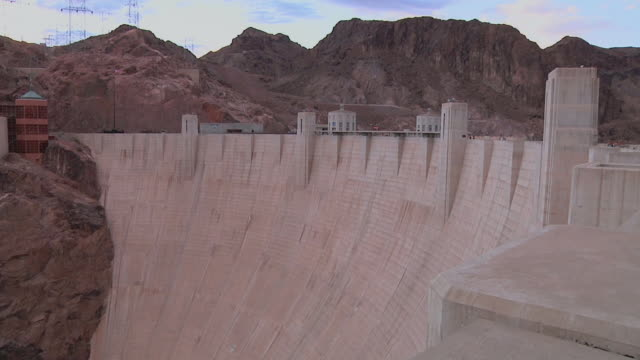 ws view of hoover dam / black canyon, arizona and nevada border, usa - black canyon stock videos & royalty-free footage