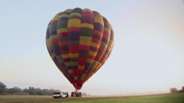 WS View of Hot air balloon taking off, Bill Harropå«s Balloon Safaris / North West Province, South Africa