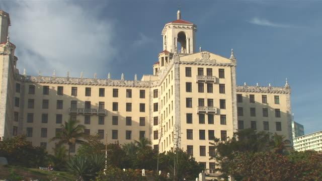 ws view of hotel nacional at malecon / havana city, havana, cuba - hotel nacional stock videos and b-roll footage