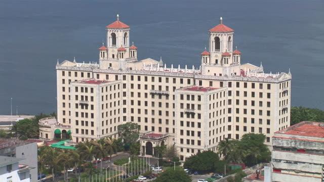 ws view of hotel nacional / havana city, havana, cuba - hotel nacional stock videos and b-roll footage