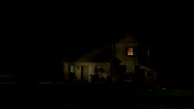 MS View of house at night / Unspecified