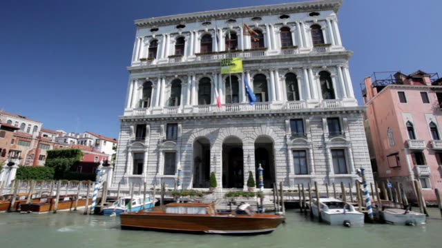 ms pov view of house facades / venice, veneto, italy - venice italy stock videos and b-roll footage