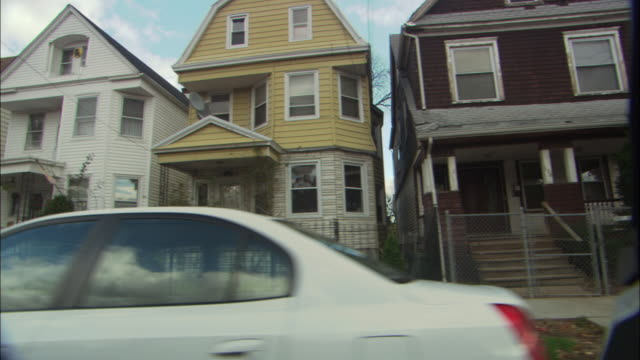 ws ts view of house of newark from car window / newark, new jersey, usa - new jersey stock videos & royalty-free footage