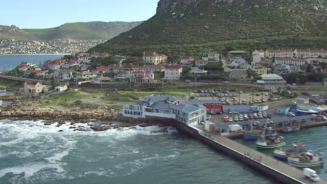 MS AERIAL View of Hout Bay / Western Cape, South Africa