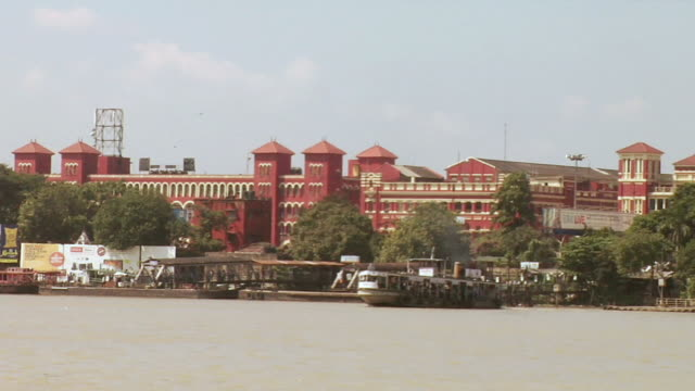 WS View of Howrah station  / Kolkata, west Bengal, India