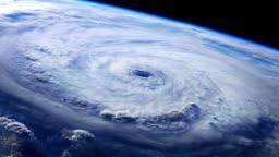 View of Hurricane from Orbit