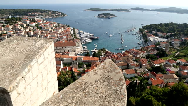 view of hvar - fortress stock videos & royalty-free footage