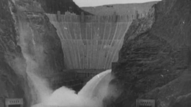ws view of  hydro electric dam / united states - new deal video stock e b–roll