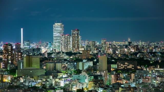 WS T/L View of ikebukuro district at night / Tokyo, Japan