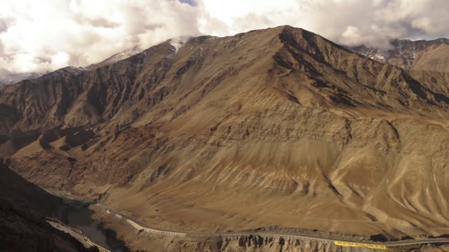 View of  Indian Himalayan ranges  peaks