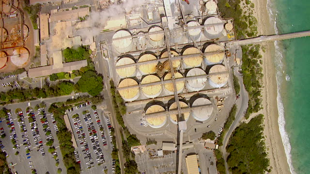WS AERIAL View of industrial area / Kings Cliff, New South Wales, Australia