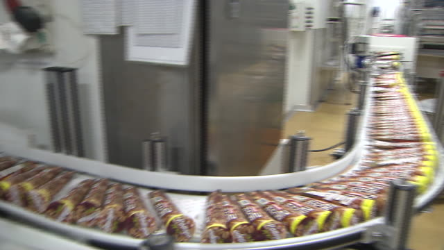 View of inside the ice cream factory
