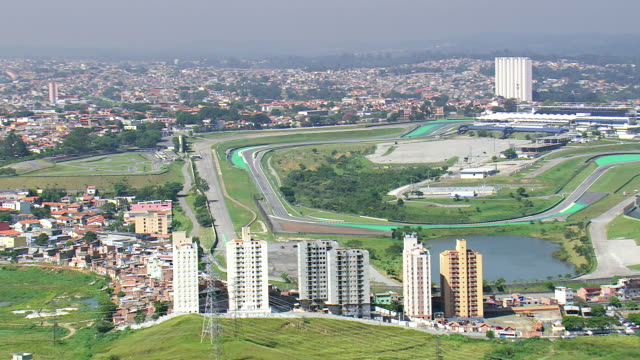 Circuit Interlagos : Ws aerial view of interlagos circuit sao paulo brazil stock footage