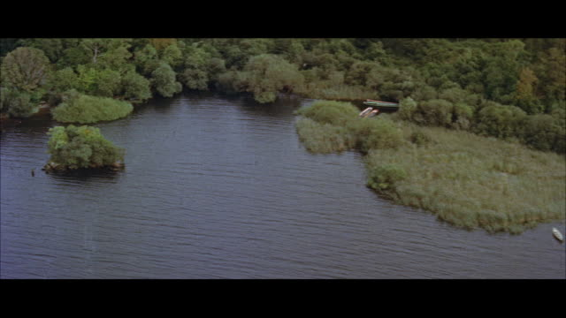 aerial view of irish countryside / ireland - 1957年点の映像素材/bロール