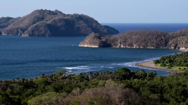 view of isla tortuga from the nicoya peninsula - named wilderness area stock videos & royalty-free footage
