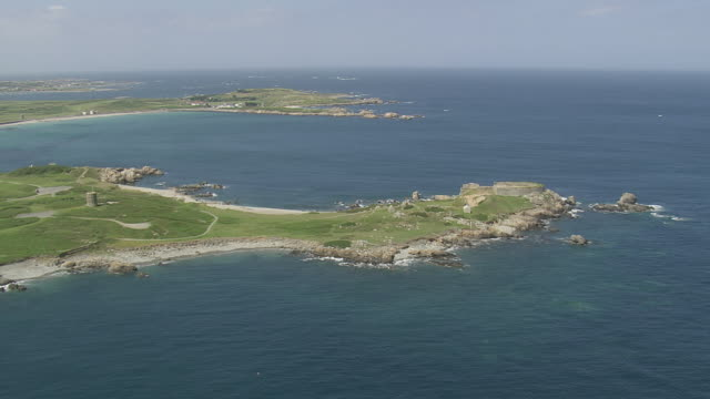 WS AERIAL ZI View of island and sea / Guernsey, Channel Isles