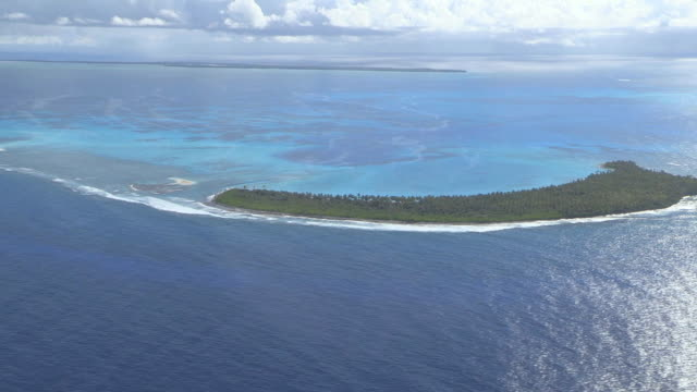 AERIAL WS View of Island (Cocos Islands) / Keeling, Shire of Cocos, Australia