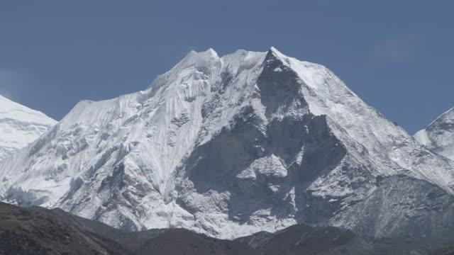 ms zo view of island peak / dingboche, khumbu region, nepal - khumbu stock videos and b-roll footage