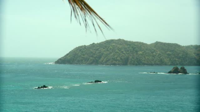 ws view of island / scarborough, tobago, trinidad and tobago  - trinidad trinidad and tobago stock videos & royalty-free footage