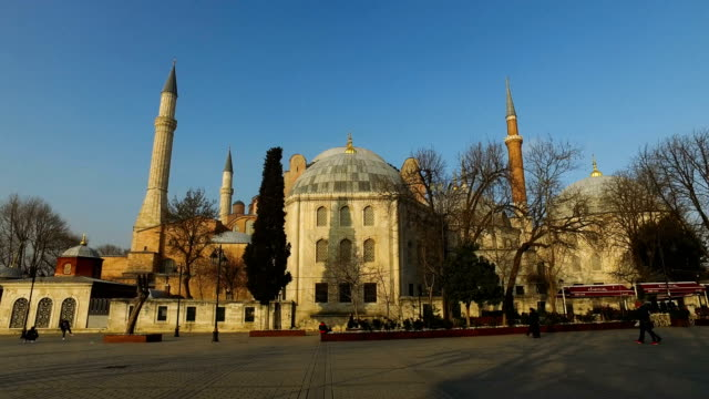 A view of Istanbul's famous Hagia Sofia on March 10 2017 in Istanbul Turkey Formerly an Orthodox basilica and a mosque the Hagia Sophia is now a...