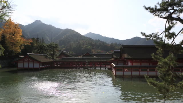 WS View of Itsukushima Shrine,UNESCO World Heritage / Hatsukaichi, Hiroshima Prefecture, Japan