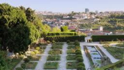 View of Jardins Do Palacio De Cristal In Porto Portugal