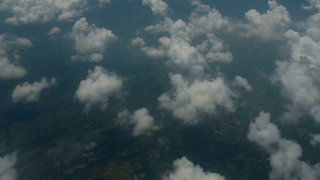 View of Java Island Through Clouds