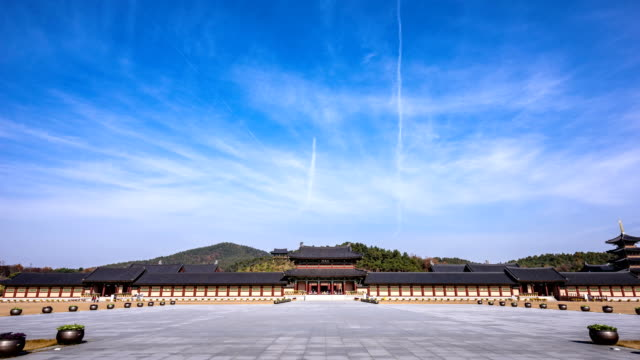 View of Jeongyangmun (Front door of Sabi Fortress) in Baekje Cultural Land (Famous tourist attractions)