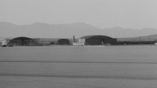 WS PAN View of jet plane taking off