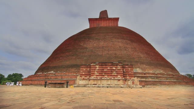 ws view of jetavanaramaya stupa where part of sash tied by buddha is believed to be enshrined / anuradhapura, north central province, sri lanka - sri lankan culture stock videos and b-roll footage