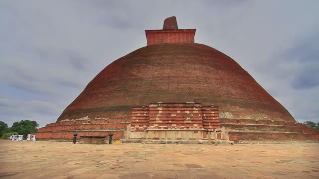 ws view of jetavanaramaya stupa where part of sash tied by buddha is believed to be enshrined / anuradhapura, north central province, sri lanka - sri lankan culture stock videos & royalty-free footage