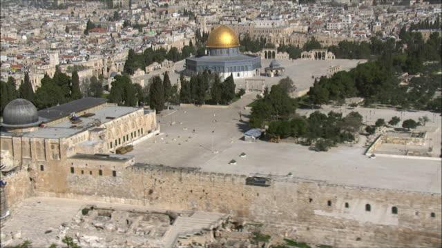 ws zo aerial view of jewish quarter of old city jerusalem / jerusalem, israel - jerusalem stock videos and b-roll footage