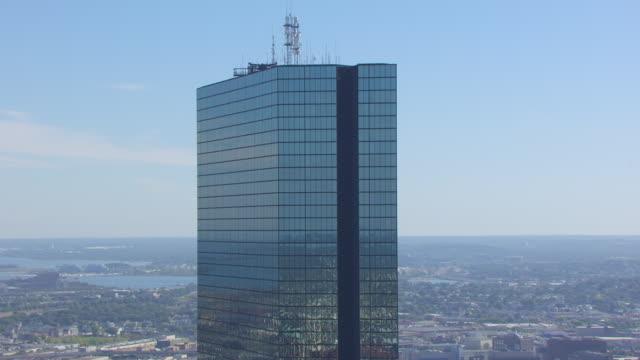 CU AERIAL POV ZO View of John Hancock Tower / Hyannis, Massachusetts, United States