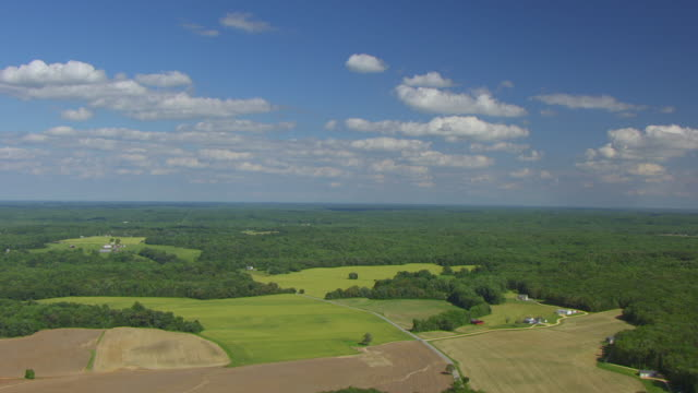 ws aerial pov view of john wilkes booth escape route / maryland, united states - maryland delstat bildbanksvideor och videomaterial från bakom kulisserna