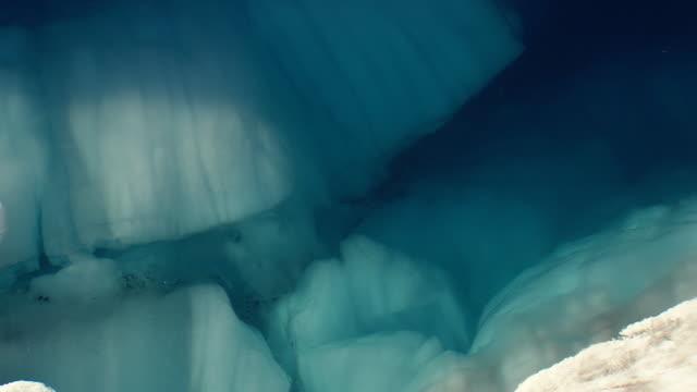 WS AERIAL ZO View of Jokulsarlon icebergs / Iceland