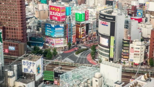 WS T/L View of kabukicho crossing in Shinjuku / Tokyo, Japan