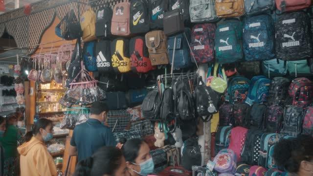 view of kashgar international grand bazaar(market) kashgar, xinjiang, china - rucksack stock videos & royalty-free footage