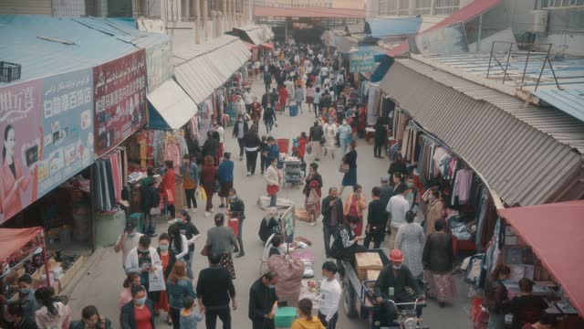 view of kashgar international grand bazaar(market) kashgar, xinjiang, china - religion stock videos & royalty-free footage