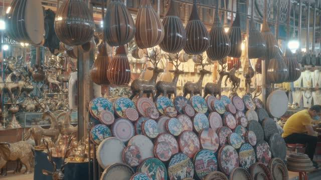 view of kashgar international grand bazaar(market) kashgar, xinjiang, china - お土産点の映像素材/bロール