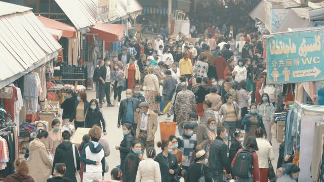 view of kashgar international grand bazaar(market) kashgar, xinjiang, china - retail occupation stock videos & royalty-free footage