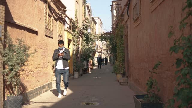 view of kashgar old town,xinjiang,china. - civilian stock videos & royalty-free footage