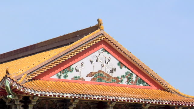 ms view of kek lok si temple roof / ayer hitam, penang, malaysia - animal representation stock videos & royalty-free footage