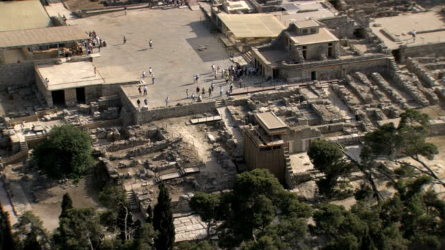 WS AERIAL View of Knossos bronze age site / Knossos, Crete, Greece