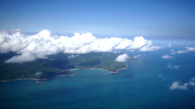 aerial view of ko samui / ko samui, thailand - ko samui stock videos & royalty-free footage