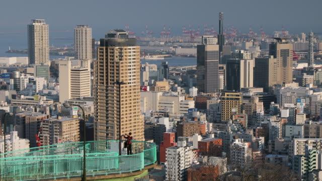 View of Kobe skyline, Kobe, Kansai, Japan, Asia