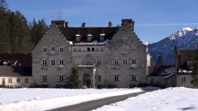 ws view of kranzbach palace near werdenfelser land / mittenwald, bavaria, germany - werdenfelser land stock videos and b-roll footage